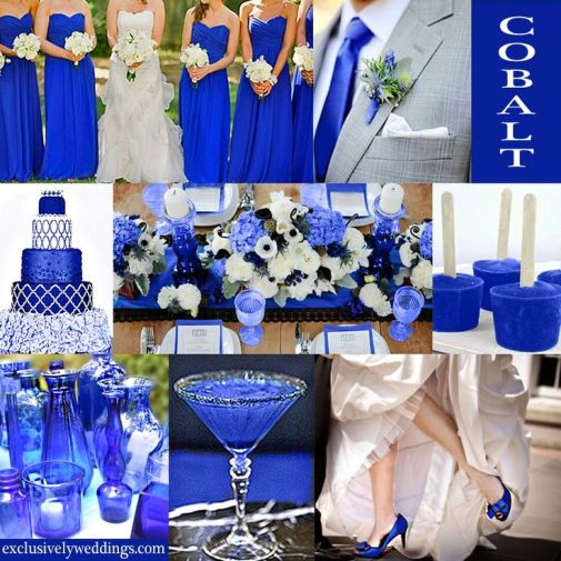 Cobalt Wedding Theme